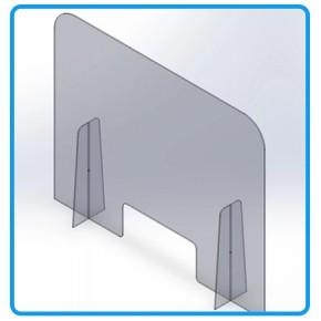 Pleksi Şeffaf Separatör Koruma Paneli (4.8 mm)